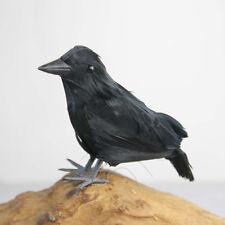 2PCS Crow Fake Bird Toys Ravens Fancy Horror Halloween Party Decoration #H8