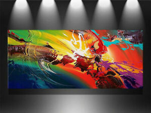 """24x48"""" Large Modern Abstract Art Hand-painted oil painting on canvas Unframed"""