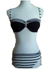 SUNFLAIR Bikini schwarz weiß gestreift / abnehmbare Träger /  Gr. 36 / Cup B