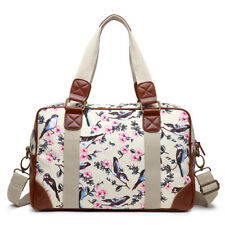 Ladies Girls Oilcloth Travel School Backpack Shopper Bag Satchel Owl/Birds Print