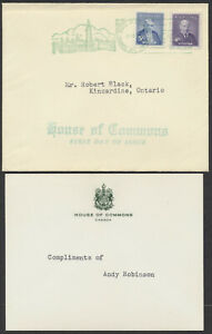 1955 #357-358 Prime Ministers FDC, House of Commons Cover and Insert