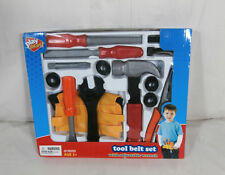 PLAY RIGHT Tool Belt Set with Adjustable Wrench For Ages 3+ New 20 Pieces