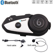 BT V6 Motorcycle Intercom Bluetooth Motorbike Helmet Interphone Headsets GPS FM