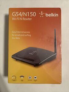 BELKIN G54/N150 Wi-Fi N Router | F9K1009 | 8830-11448 Rev. B00 | NEW