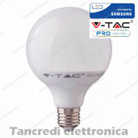 Lampadina led V-TAC 18W = 115W E27 bianco caldo 3000K VT-1899 globo G120 lampada