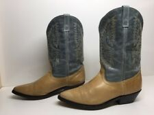 WOMENS UNBRANDED SNIP TOE COWBOY LEATHER LIGHT BROWN BOOTS SIZE 11 M