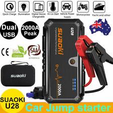 Suaoki U28 2000A 12V Car Jump Starter DC/USB 2-in-1 Power Bank LED Flashlight