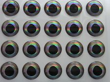 400 X  10 AND 14MM REAL FISH EYES FOR FLY TYING,LURE,FLIES,PIKE,BASS,(D)