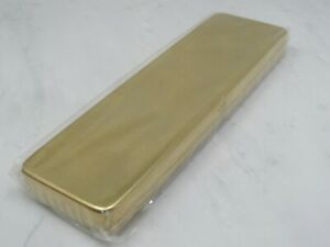"""SOLID BRASS PEN AND PENCIL CASE -  6.5""""X 2"""""""