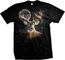 Deer Buck Moon Spirt Animal Wilderness Outdoors Nature Mens T-shirt