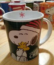 Snoopy & Woodstock Peanuts Tasse Kaffeetasse Kaffeebecher Mug Becher / Neu grün