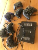 Microsoft Xbox AC Adapter Power Supply + controllers lot bulk bundle - untested