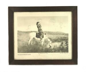 Antique Edward Curtis Photogravure Oasis in the Badlands Red Hawk Oglala Sioux
