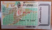 Biglietto Bologna - Milan  1989/90