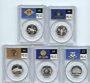 1999 S Silver State Quarter Set PCGS PR69DCAM