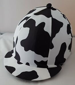 RIDING HAT COVER - COW PRINT