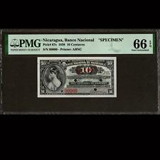 Banco Nacional de Nicaragua 10 Centavos 1938 SPECIMEN PMG 66 GEM UNC EPQ P-87s