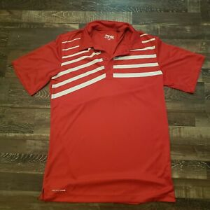 Ping Collection Sensor Cool S/P Golf Shirt Red White Strip Pattern