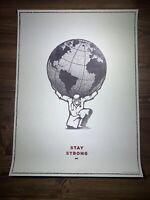SANDIN MEDJEDOVIC STAY STRONG Art Print Health Urban Street Poster Obey Giant