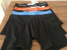 Calvin Klein 3 paquetes de boxeadores más largo de la pierna Nuevo Sin Etiquetas Talla Pequeña Negro Lote 9