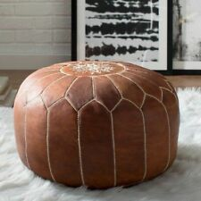 Genuine Handmade Moroccan Leather Pouf Poof Ottoman Footstool Footrest
