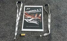 F1 FORMULA 1 2008 SINGAPORE GRAND PRIX MEDIA INFO & 2 LANYARDS COLLECTORS ITEMS