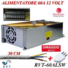 ALIMENTATORE STABILIZZATO 12V 60A IDEALE PER TELECAMERE ANTIFURTI STRISCE LED