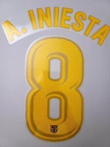 2017/18 FC Barcelona #8 A.iniesta Home Soccer Name Set