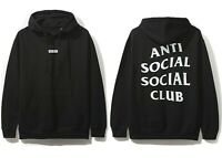 DS Anti Social Social Club ASSC white Logo box What Sup Black Hoodie supreme
