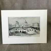 1890 Antique Print Plaza Guadalajara Jalisco Mexico Mexican 19th Century