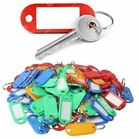 KEY TAGS PLASTIC ASSORTED KEY RINGS COLOURED PLASTIC ID TAGS NAME LABEL FOB