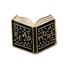 Read More Books Enamel Pin Lapel Brooch Book Lover Librarian Reading