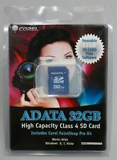 Adata 32GB SD HC Memory Card Class 4 WITH Corel Paintshop Pro X4