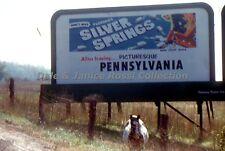 M911 35mm Slide Roadside Billboard Advertising Red Border Kodachrome