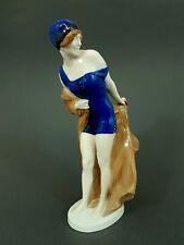 Rosenthal Jugendstil Figur, 'Im Wind' Entwurf Rudolf Marcuse, Mod.Nr.293, H=27cm
