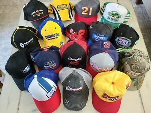 NASCAR F1 Indy Racing Hats DaleJarrett Ricky Rudd Kenseth Ryan Blaney Edwards