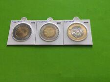 Lot de 3 pièces de 5 € Finlande 2005/2007/2008