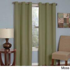 "Pair of light-blocking window panels olive green grommet-top 52""W x 96""L"