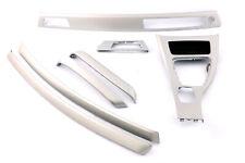 BMW 3 Series E90 E91 LCI Set Trim Dashboard Console Strip Satin Silber Silver