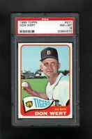 1965 TOPPS #271 DON WERT DETROIT TIGERS PSA 8 NM/MT CENTERED!