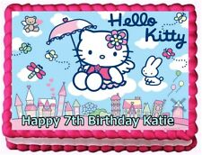 HELLO KITTY IMAGE EDIBLE CAKE TOPPER BIRTHDAY DECORATIONS