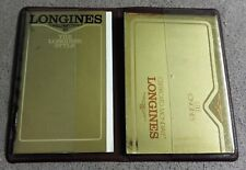 Longines vintage complete kit plastic wallet papers and warranty nos