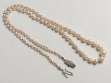 Art Deco Perlenkette Akoya Salzwasser Zuchtperlen 585 Weiß-Gold-Schließe