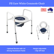 Commode Shower Chair Bathroom Toilet Raiser Seat Disability Height Adjust