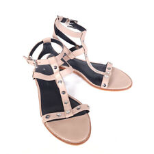 Rebecca Minkoff Sandy Gladiator Sandal Nude 9 M Studded Leather Ankle Strap