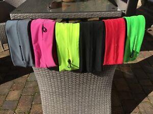 EXERCISE FITNESS RUNNING FLIP BELT for KEYS CARDS PHONE MEDS 7 Colours UK SELLER