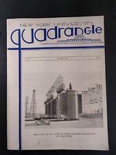 New York University Quadrangle Engineer Mag Vtg 1934 Original Rare Htf Oil Crack
