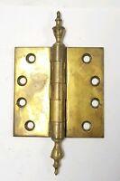 """Brass Steeple Top Door Hinge 4"""" x 4"""""""