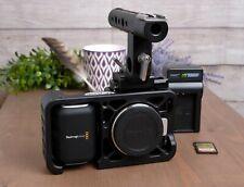 Original Blackmagic Design Pocket Cinema Camera BMPCC with Cage & SD & Charger