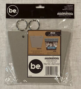 be. Creative Imaginations Trapizium Chipboard Ring Book New